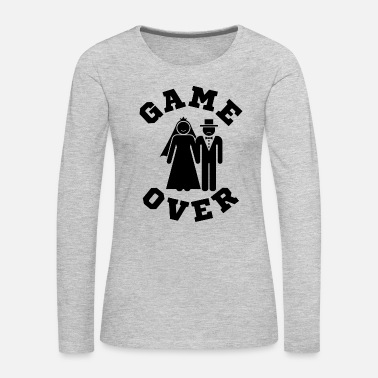 Video Game Game Over Tees Funny Wedding Video Gamer Groom - Women's Premium Long Sleeve T-Shirt