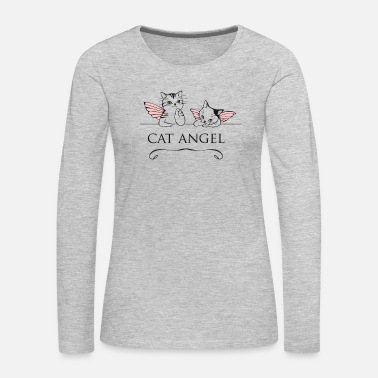 Italia cat angel picture Michelangelo italia kitty cute - Women's Premium Long Sleeve T-Shirt