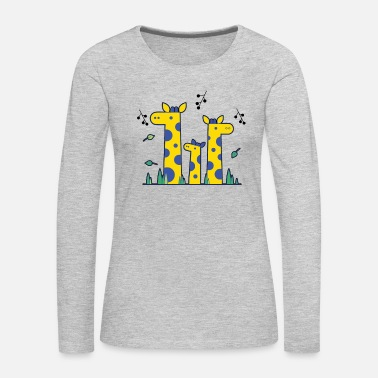 Giraffe Three Giraffe Cute Shirt - Women's Premium Long Sleeve T-Shirt