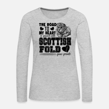 Fold Fold Love Scottish Fold Shirt - Women's Premium Long Sleeve T-Shirt
