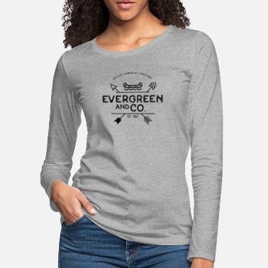 Evergreen Evergreen and Co. Classic Canoe - Women's Premium Longsleeve Shirt