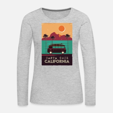 California Santa Cruz Poster Design - Women's Premium Long Sleeve T-Shirt