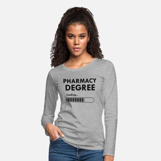 Student Long-Sleeve Shirts - Pharmacy degree loading Gift - Women's Premium Longsleeve Shirt heather gray