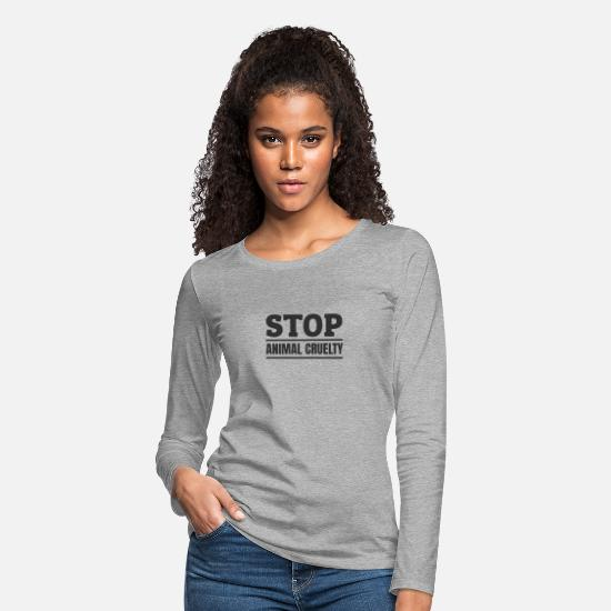 Animal Long-Sleeve Shirts - Stop Animal Cruelty Animal Rights Animal Welfare - Women's Premium Longsleeve Shirt heather gray