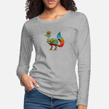 Ancient Egyptian Ancient Egyptian Painting - Peacock Deity - Women's Premium Longsleeve Shirt