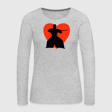 Heartless AIKIDO RETRO DESIGN - Women's Premium Long Sleeve T-Shirt