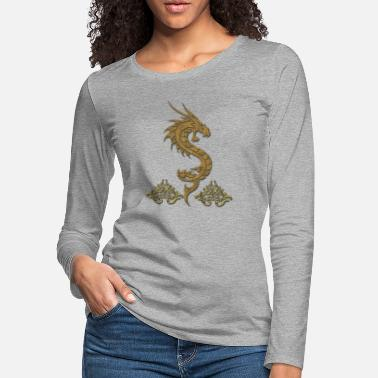e8f92f089 Wonderful golden chinese dragon - Women's Premium Longsleeve Shirt