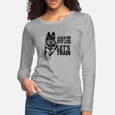 Police Work German Shepherd Dog - Women's Premium Longsleeve Shirt
