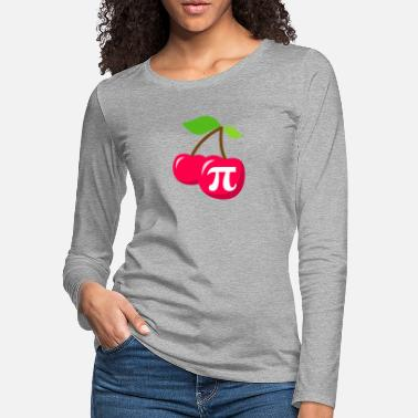 Geometry Cherry Pi - Pi Day Math design - Women's Premium Longsleeve Shirt