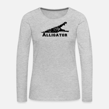 Alligator Alligator with Open Mouth - Women's Premium Long Sleeve T-Shirt