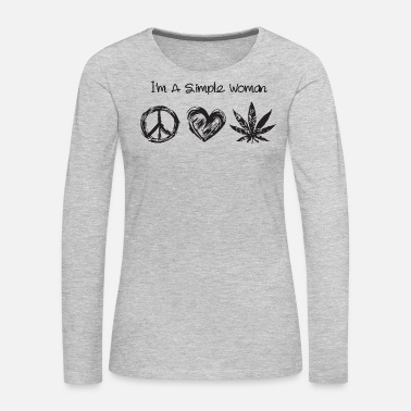 Hippie I'm a simple woman hippie love weed - Women's Premium Long Sleeve T-Shirt