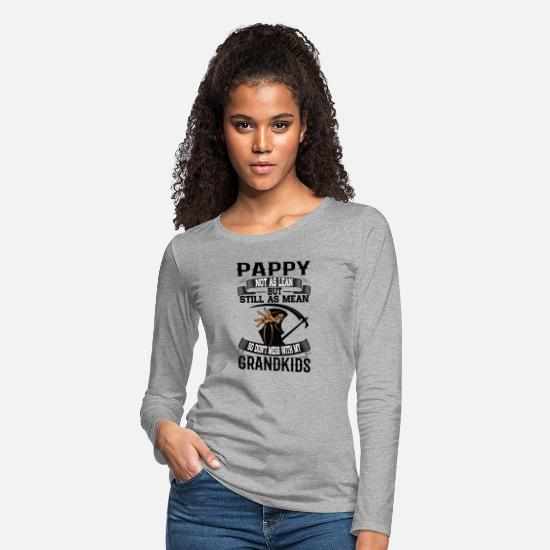 Not As Lean Still As Mean Long-Sleeve Shirts - Pappy - Women's Premium Longsleeve Shirt heather gray