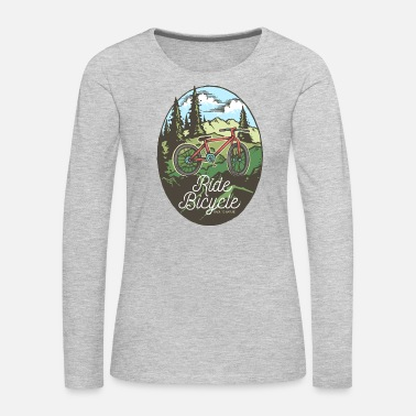 Nature Ride Bicycle Back to Nature - Women's Premium Long Sleeve T-Shirt