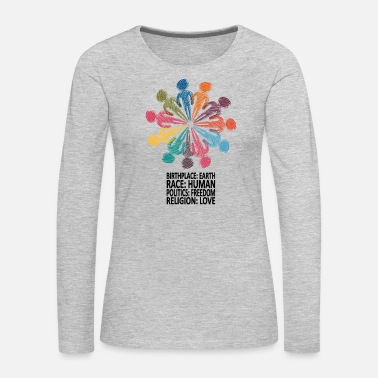 Against Against Racism T-Shirt - Women's Premium Long Sleeve T-Shirt