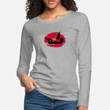 Pointy Cat In a Pointy Hat - Women's Premium Longsleeve Shirt