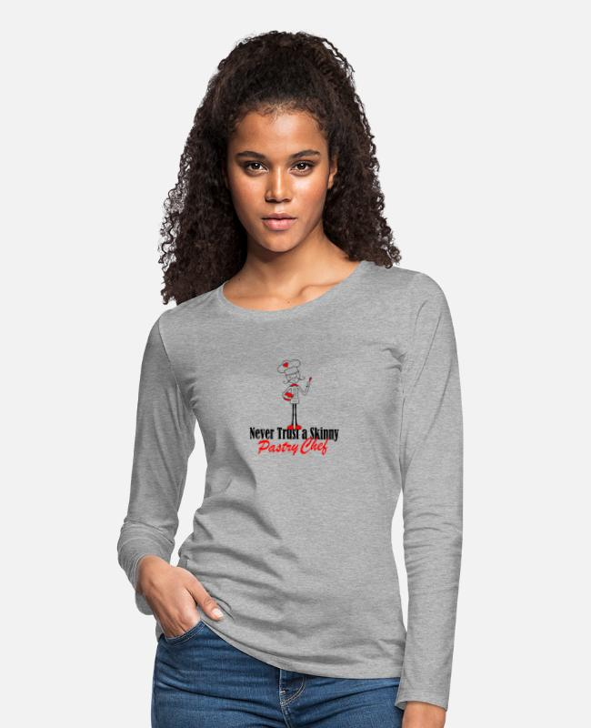 Baked Goods Long-Sleeved Shirts - pastry chef - Women's Premium Longsleeve Shirt heather gray