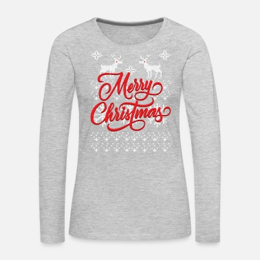Ugly Sweater Merry Christmas - Women's Premium Long Sleeve T-Shirt