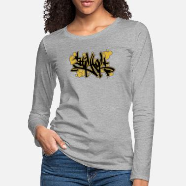 Sprayer Hip Hop Tag Graffiti Streetart Wall Art spray Cans - Women's Premium Longsleeve Shirt
