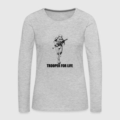 trooper for life star wars - Women's Premium Long Sleeve T-Shirt