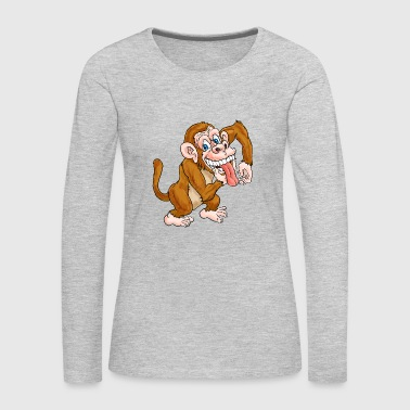 Laughing Monkey - Women's Premium Long Sleeve T-Shirt