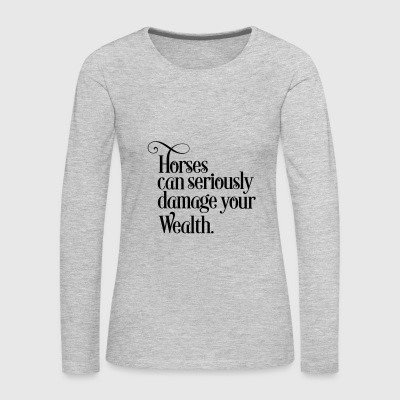 horse - Women's Premium Long Sleeve T-Shirt