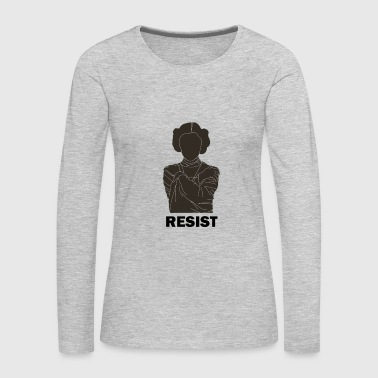 Princess Leia Resist T shirt - Women's Premium Long Sleeve T-Shirt