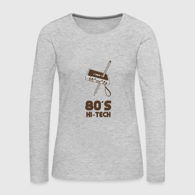 80 s HI TECH funny tshirt - Women's Premium Long Sleeve T-Shirt