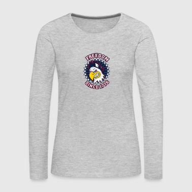 FREEDOM EAGLE Freedom since 1776 - Women's Premium Long Sleeve T-Shirt