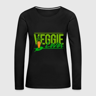 Vegan - Veggie Lover (Carrot) - Women's Premium Long Sleeve T-Shirt