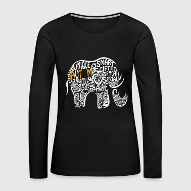 Autism - autism awareness elephant - Women's Premium Long Sleeve T-Shirt