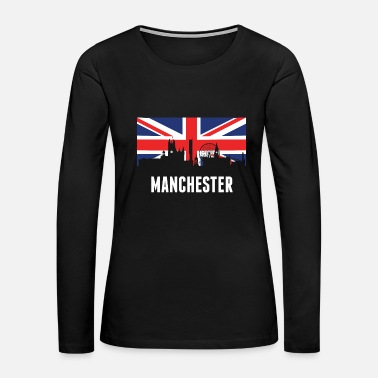 British Flag British Flag Manchester Skyline - Women's Premium Long Sleeve T-Shirt