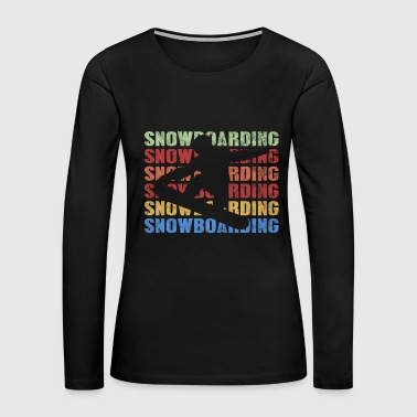 Vintage Retro Style Snowboarding Snowboarder - Women's Premium Long Sleeve T-Shirt