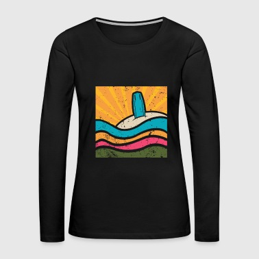 Surf On The Beach - Women's Premium Long Sleeve T-Shirt
