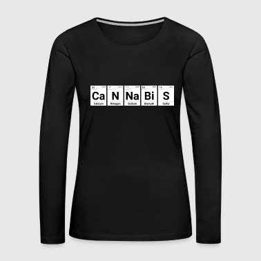 Cannabis Periodic Table - Women's Premium Long Sleeve T-Shirt