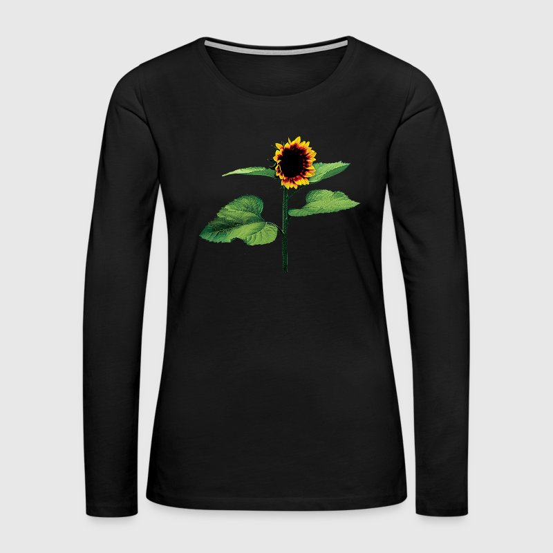 Sunflower Profile - Women's Premium Long Sleeve T-Shirt