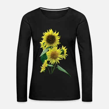 Sunflower Group of Sunflowers - Women's Premium Long Sleeve T-Shirt