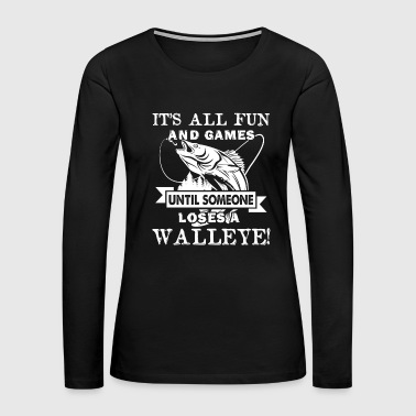 Walleye Fishing Shirt - Women's Premium Long Sleeve T-Shirt