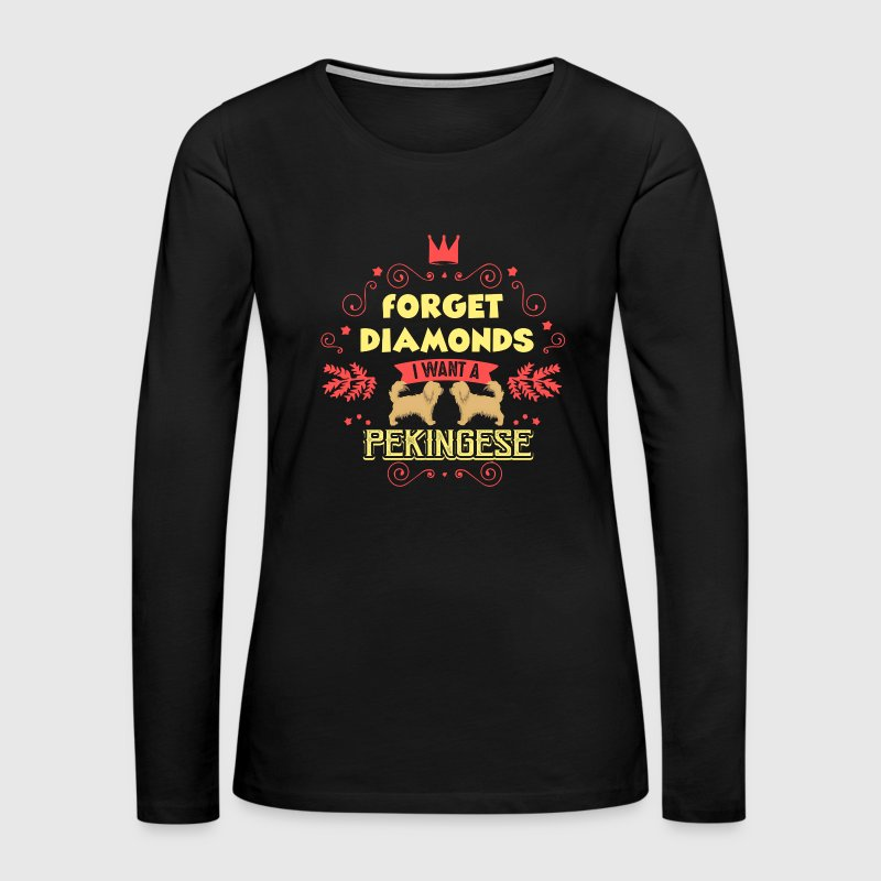 Pekingese T Shirt - Women's Premium Long Sleeve T-Shirt