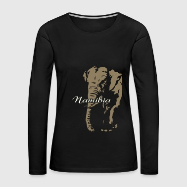 Namibia - Elephant - Women's Premium Long Sleeve T-Shirt