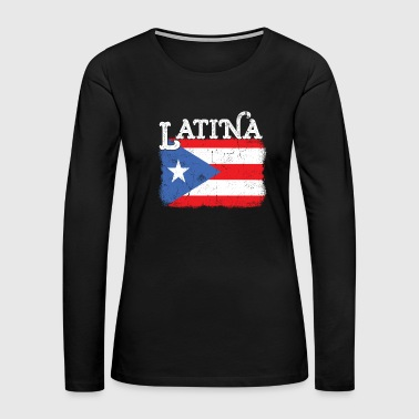 Womens Puerto Rico Latina Mama Flag Mothers Day - Women's Premium Long Sleeve T-Shirt