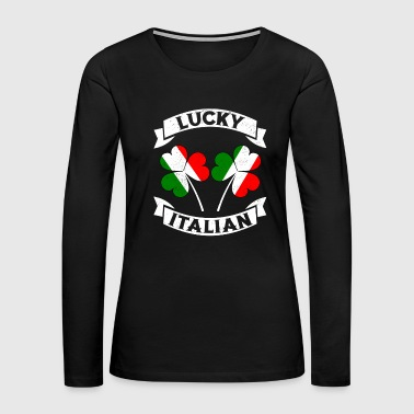 Lucky Italian St Patrick's Day TShirt Irish Italy - Women's Premium Long Sleeve T-Shirt
