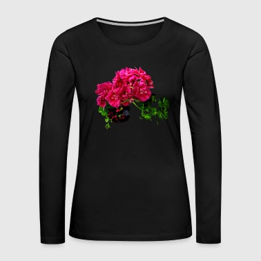 Graceful Geraniums - Women's Premium Long Sleeve T-Shirt