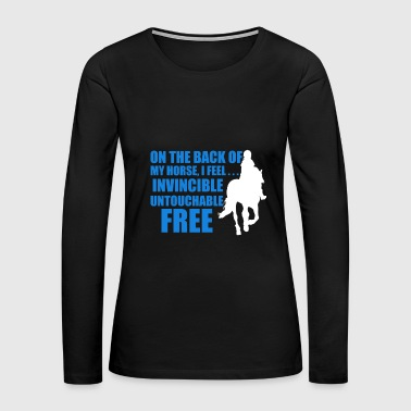 Horse Riding On The Back Of My Horse T Shirt - Women's Premium Long Sleeve T-Shirt