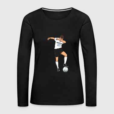 Argentina Argentina National Soccer Team Dabbing Player - Women's Premium Long Sleeve T-Shirt