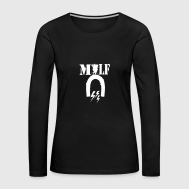 wife mother mother in law milf motif flirt shirt - Women's Premium Long Sleeve T-Shirt
