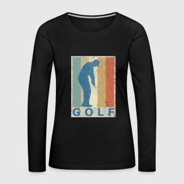 Retro Vintage Style Golf Player Golfer Sports Game - Women's Premium Long Sleeve T-Shirt