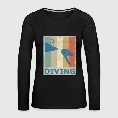 Retro Vintage Style Diving Diver Water Sports - Women's Premium Long Sleeve T-Shirt