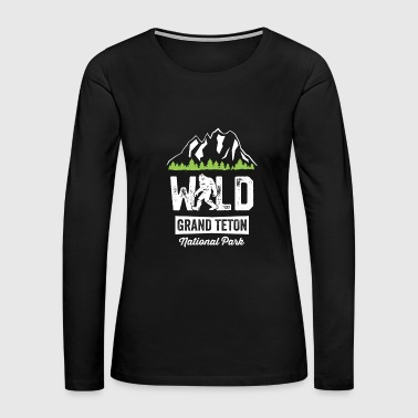 Wild Grand Canyon National Park TShirt Big Foot Hiking - Women's Premium Long Sleeve T-Shirt