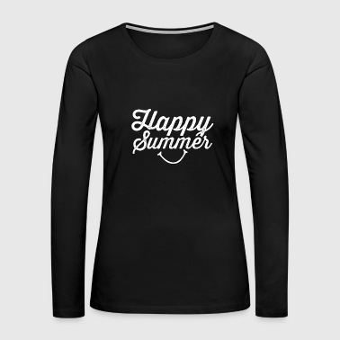 Happy Summer - Summer - Total Basics - Women's Premium Long Sleeve T-Shirt