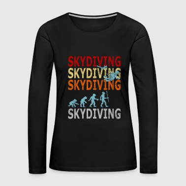 Retro Vintage Style Evolution Skydiver Skydiving - Women's Premium Long Sleeve T-Shirt
